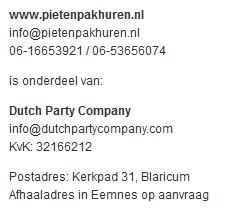 Adres www.pietenpakhuren.nl