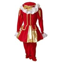 Pietenpak damesmodel rood-goud (M)